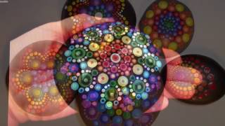 How to paint dot mandalas with Kristin Uhrig- #5- Rainbows