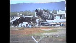 wreckage of the Martinair DC-10 accident at Faro, Portugal, 1992