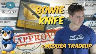 CSGO BOWIE KNIFE UNBOXING + AWP MEDUSA TRADEUP!