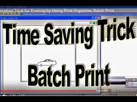 Microstation Trick for Printing by Using Print Organizer, Batch Print.