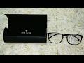 John Jacobs Matte Black Gunmetal C1 Wayfarer Eyeglasses(Lenskart) Unboxing.