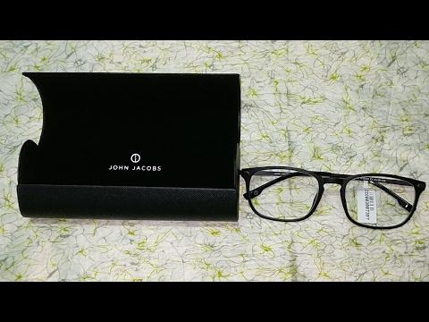 fa2d706764b4 John Jacobs Matte Black Gunmetal C1 Wayfarer Eyeglasses(Lenskart) Unboxing.