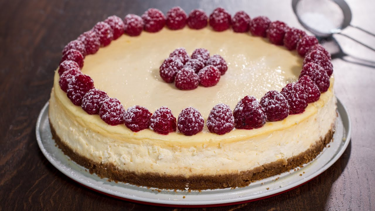 Classic cheesecake recipe youtube for Different types of cakes recipes with pictures