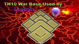 Clash of Clans | Best TH10 Pushing/ War Base Defensive Layout | 275 Walls | CoC