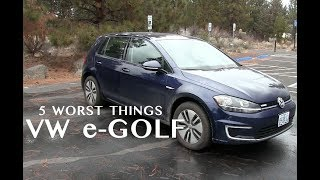 5 Worst Things about the e-Golf