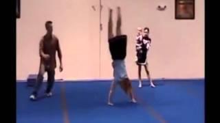 Почему гимнастика опасна -  Gymnastic Spotting Gone Wrong