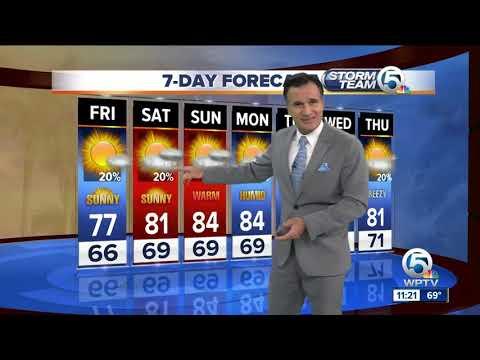 Latest Weather Forecast 11 p.m. Thursday