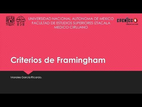CRITERIOS DE FRAMINGHAM FACILES || CLASE VIRTUAL || CPENICC