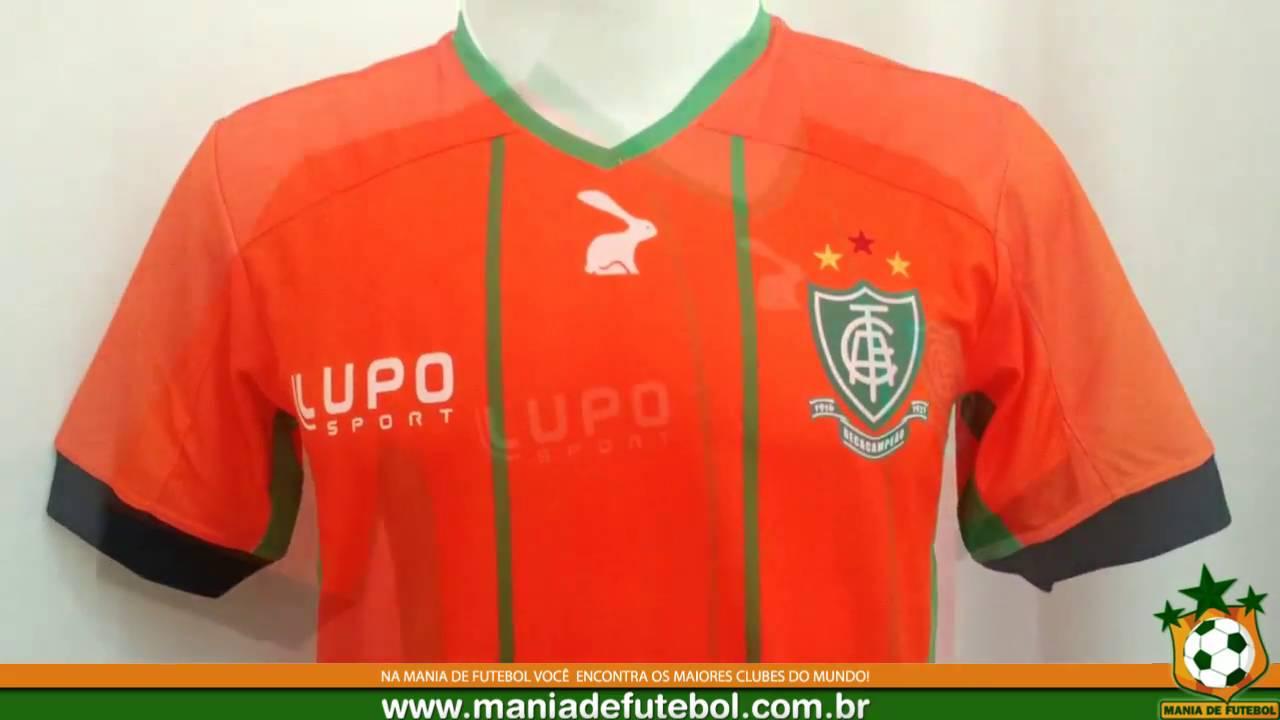 Camisa Jogo 3 América MG Lupo 2016 Laranja - YouTube 3588cfe626fac