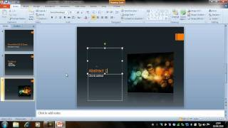 Creating a Presentation - PowerPoint 2010