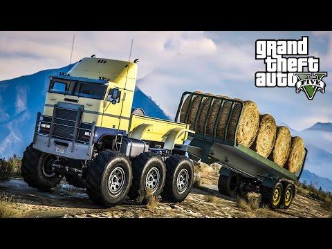 หัวรถลากซิ่ง 500กม./ชม. !!! (Hauler Rally Truck MOD GTA5)