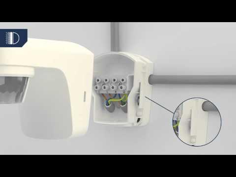 bewegungsmelder mit schalter f r dauerlicht anschlie en doovi. Black Bedroom Furniture Sets. Home Design Ideas