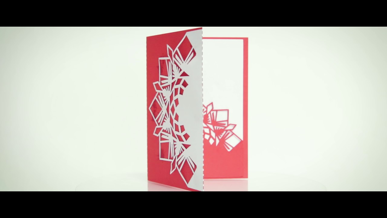 Laser Cut Paper Christmas Holiday Card Boss Laser Youtube