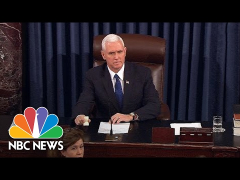 VP Mike Pence Breaks Senate Tie To Confirm Betsy DeVos | NBC News