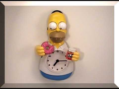 Toy Homer Simpson Animated Clock Simpsons Wall Clock