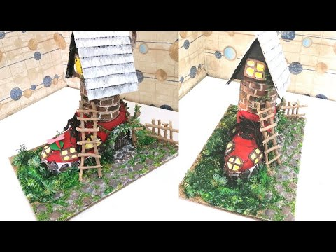 DIY Miniature Boot Fairy  House || Fairy House....a School Project
