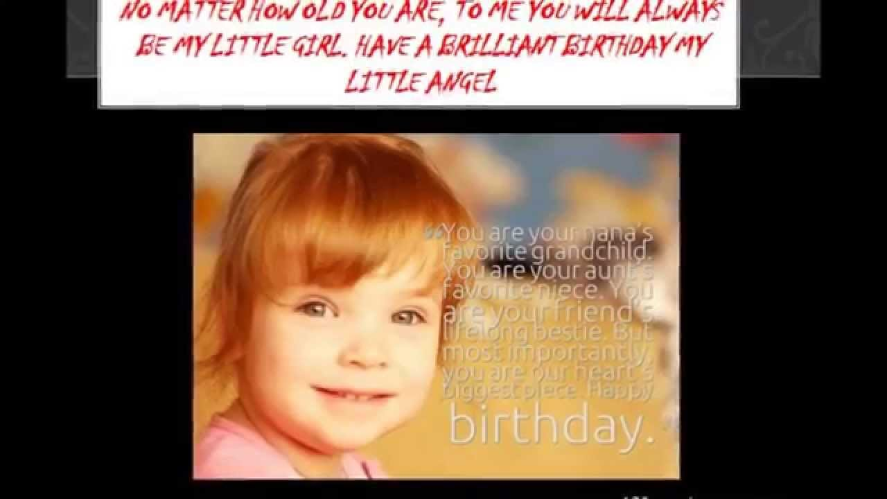 Blessed Birthday Wishes For Daughter From Mom Dad Parents Happy BDay Greetings VIDEO 2015 2014 Sh