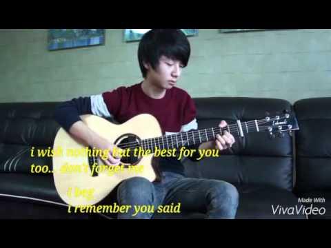 (sungha jung) someone like you (lirik)