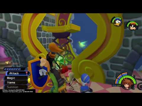 KINGDOM HEARTS FINAL MIX - Traverse Town: Ring the Bell on Top Gizmo Shop! Guard/Opposite Armor Boss