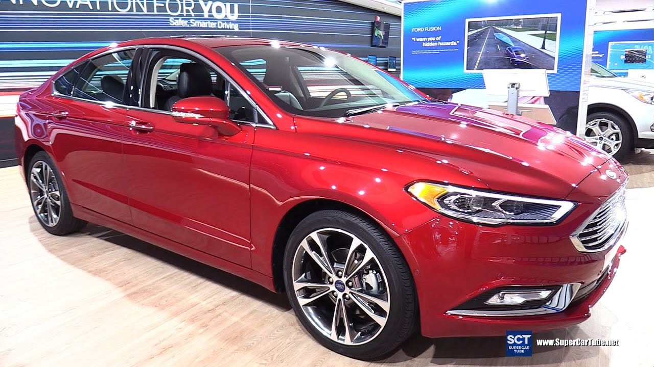 2017 Ford Fusion Titanium Awd Exterior And Interior