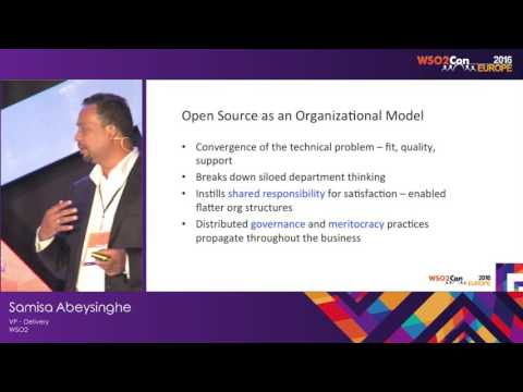 WSO2Con EU 2016 : Impact of Open Source