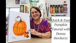 How to Paint a Pumpkin (in 5 MINUTES!)