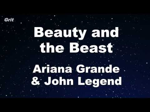 Beauty and the Beast - Ariana Grande & John Legend Karaoke 【With Guide Melody】 Instrumental