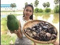 village food factory - awesome cooking soup Crab with Papaya recipe | Amazing cooking