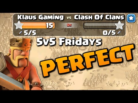 PERFECT WAR in 5 ATTACKS!?  5v5 FRIDAYS | Clash of Clans