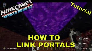 Minecraft -How To Link Nether Portals -MCPE,Xbox,Switch Bedrock