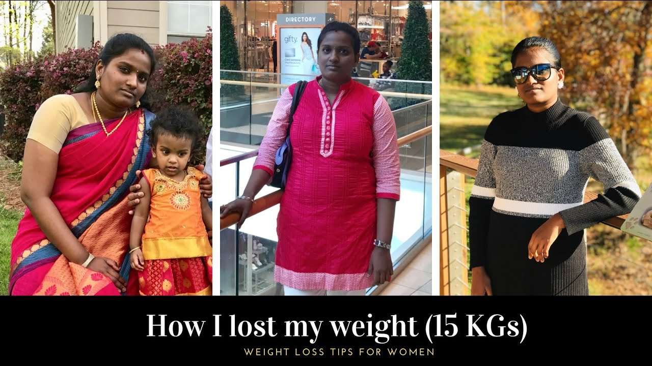 How I lost 15 KG weight | Weight Loss tips for women in Tamil |  usa tamil vlog