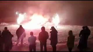 Новогодний фейерверк в Русской деревне