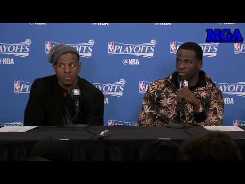 Andrew Iguodala and Draymond Green Interview Postgame - GSW vs POR - Game 3 Playoffs - 22 April 2017
