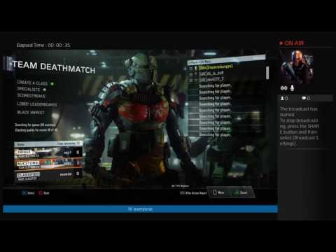 Emperorkurgan1's Live PS4 Broadcast Call of Duty black Ops 3 hopefully  reach  level 40