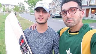 FAZAL-UD-DIN PLAYS CRICKET ON THE STREETS