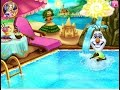 Olaf Swimming Pool - Disney Frozen Games