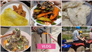 집밥로그.vlog 즐거운 주말 자연체험,바이크타고 바베…