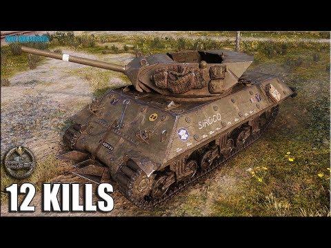 M10 RBFM Колобанов, 12 фрагов ✅ World of Tanks лучший бой