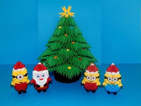 3D origami Christmas Tree tutorial || DIY paper christmas tree 1