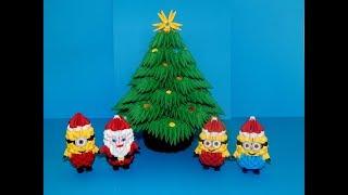 3D origami Christmas Tree tutorial    DIY paper christmas tree 1