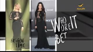 من الأجمل في نفس الفستان ؟ الفنانة نوال الزغبي أم ماجي كيو ؟