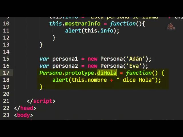 27.- Curso de javaScript para principiantes. Extender Objetos con el uso de Prototypes.