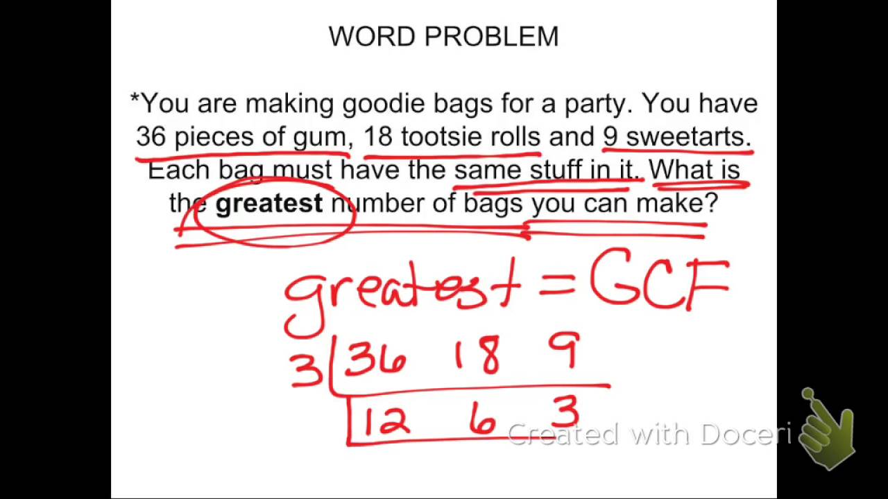 Worksheet Gcf Word Problems gcf word problems youtube problems