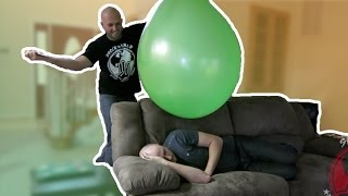 AWESOME GIANT BALLOON PRANK - HOW TO PRANKS