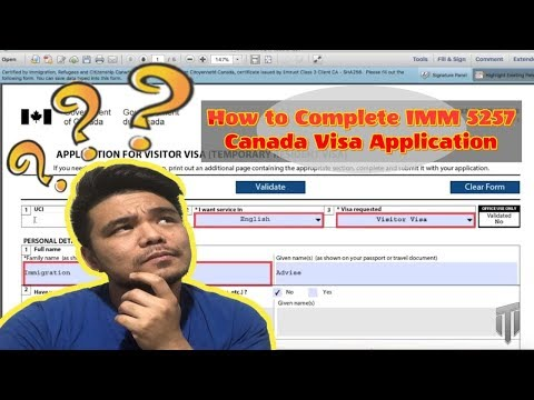 How To Complete IMM 5257 - Canada Visa Application 2019