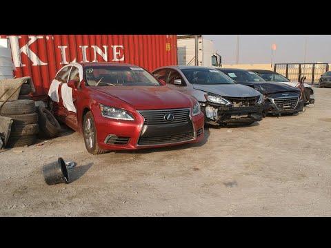 Покупка битых Lexus и Toyota в Dubai.