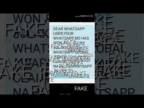 Fake whatsapp global award 2019 award winning bmw award kbc