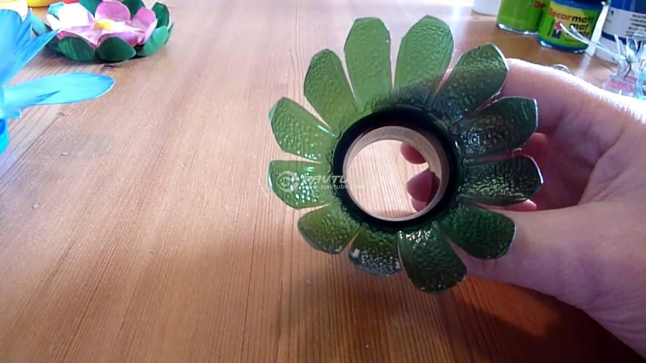 fabriquer des fleurs avec des bouteilles en plastique youtube. Black Bedroom Furniture Sets. Home Design Ideas