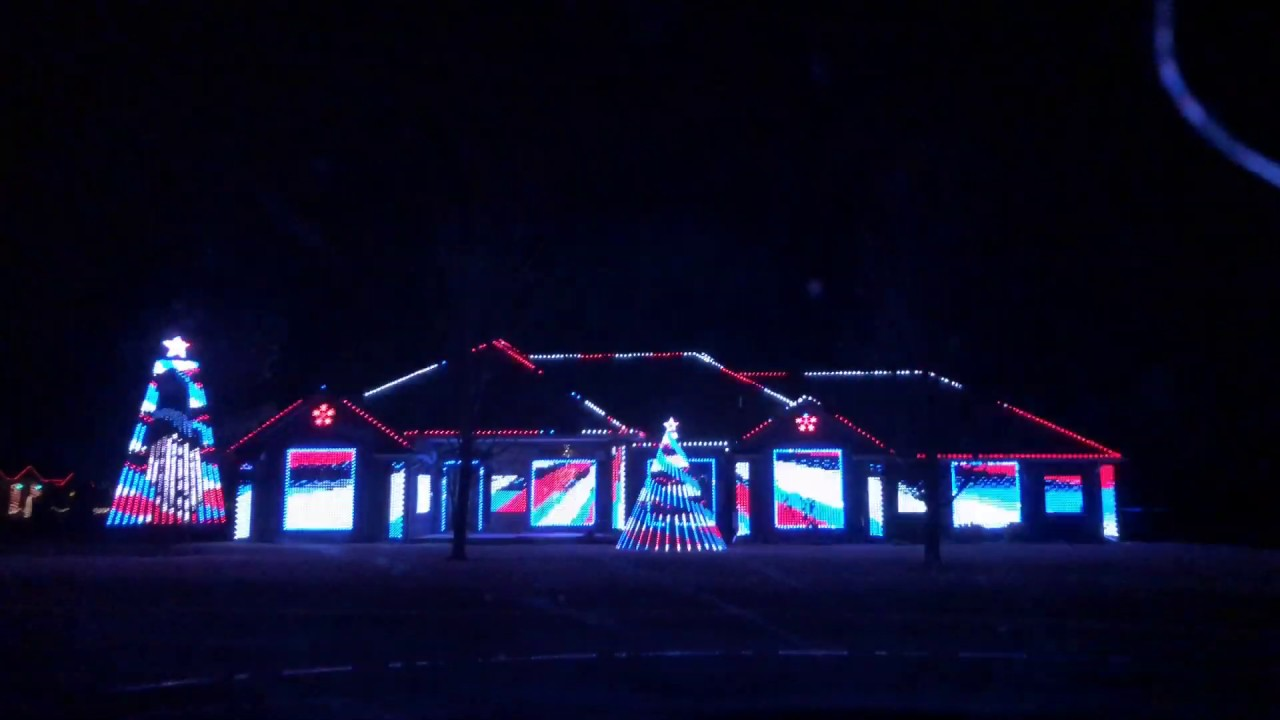 The Greatest Showman Christmas Lights House (Full show)