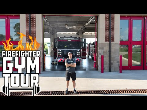 Firefighters Build A Gym At Their Fire Station